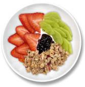 Bowl de yogur cremoso, fruta y granola