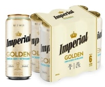 Cerveza Imperial Golden Rubia Six Pack x 473 ml.