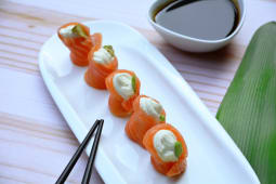 Geishas salmón  (5 piezas)