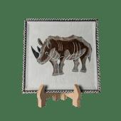Soapstone Rhino Plate