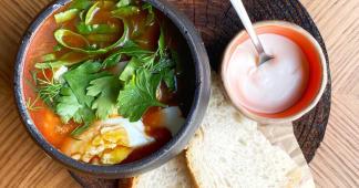 Ах, як хочеться зеленого борщу з щавлем, кропивою і яйцем (350г)