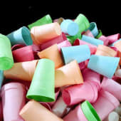 Recycle-горнятка та кришечки (20шт)