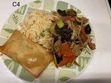 C4 - Arroz Chao Chao com Chop Suey de Porco + 1 Crepe Chinês