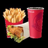 ცხარე ქათმის ვრაპის კომბო/Spicy Chicken Wrap Combo