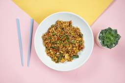 Смажений рис з овочами та куркою (270г)