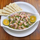 Ceviche de camarón plato