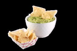 Guacamole y tortillas chips