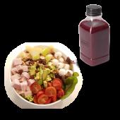 Menú ensalada little Italy + zumo (500 ml.)