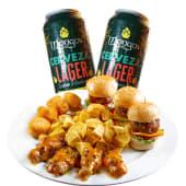 2 cervezas Mongo's + tabla gringa