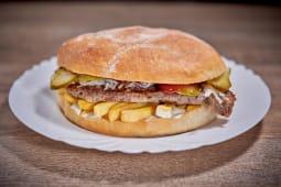 Hamburger cu ceafa de porc