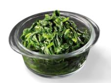 Spinaci al vapore con olio d'oliva