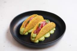 Tacos messicano con salmone