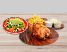 1 Pollo + papas +ensalada paltosa