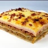 Lasagna de Tocino y Jamón