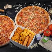 ქათმის XL კალათა + 2 საშუალო პიცა (ფავორიტი კატეგორიიდან)