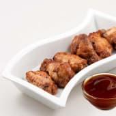 Alitas de pollo con salsa BBQ (6 uds.)