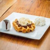 Waffle con nutella e banana