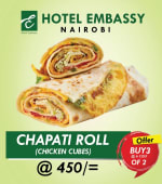 Buy 2 Chicken Chapati rolls Get 1 Free