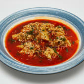 #107 Wonton de Sichuan con aceite de chili