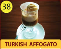 Turkish affogato