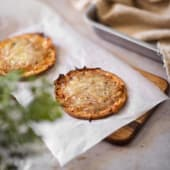 Pizzeta de jamón y queso