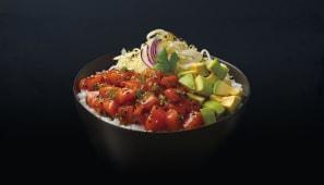 Poke bowl salmone teriyaki