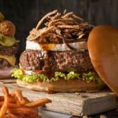 Single Onion Rocks Burger