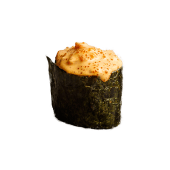 Гункан з лососем під соусом спайс (40г)