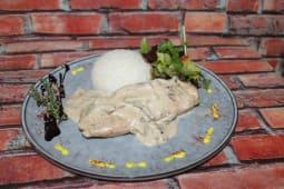 Филе куриное под сливочным грибным соусом