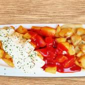 Patatas fritas 3 salsas