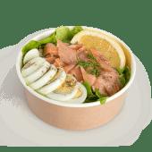 Salata de linte verde cu somon