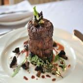 Mushroom Fillet Steak served with rice |Chips or salad