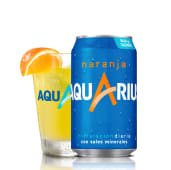 Aquarius Naranja lata 330 ml.