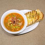 Supa de linte cu carne de pui/porc