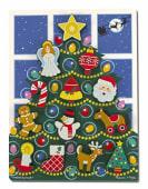 Puzzle albero di Natale in legno