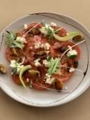 Карпачо з томатів з м'ясом мідій (210г)