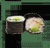 88. Hosomaki cangrejo y aguacate (8 uds)