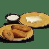 Porción Plátanos, Queso y Crema