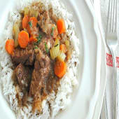 Beef Stew and White Rice