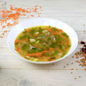 Суп з квасолею і телятиною (350г)