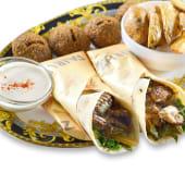 Plato combinado 1 (shawarma falafel)