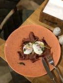 Тост з яйцем пашот та хамон (200г)