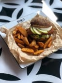 Burger fish cod burger