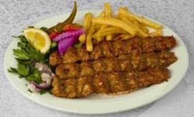 Kebab meat  & french fries