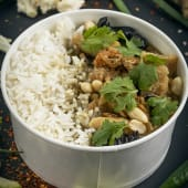 Chicken with Basil and Green Curry