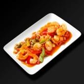 Crevettes sautées sauce piquante