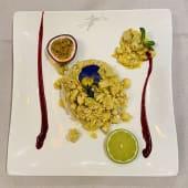Straccetti di pollo al curry con riso pilaf