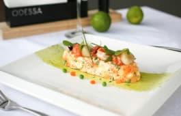 Салат Олів'є з лососем та морепродуктами (240г)