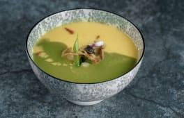 Крем-суп з броколі, кукурудзою та морепродуктами (540г)