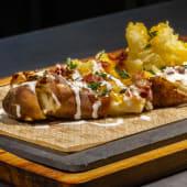 Patatas queso y panceta